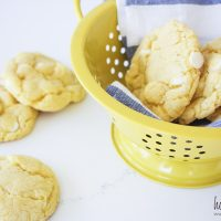 Cake Mix White Chocolate Lemon Cookies