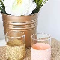 Gold and Peach Votives