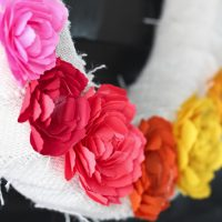 Mother's Day Paper Ranunculus Wreath
