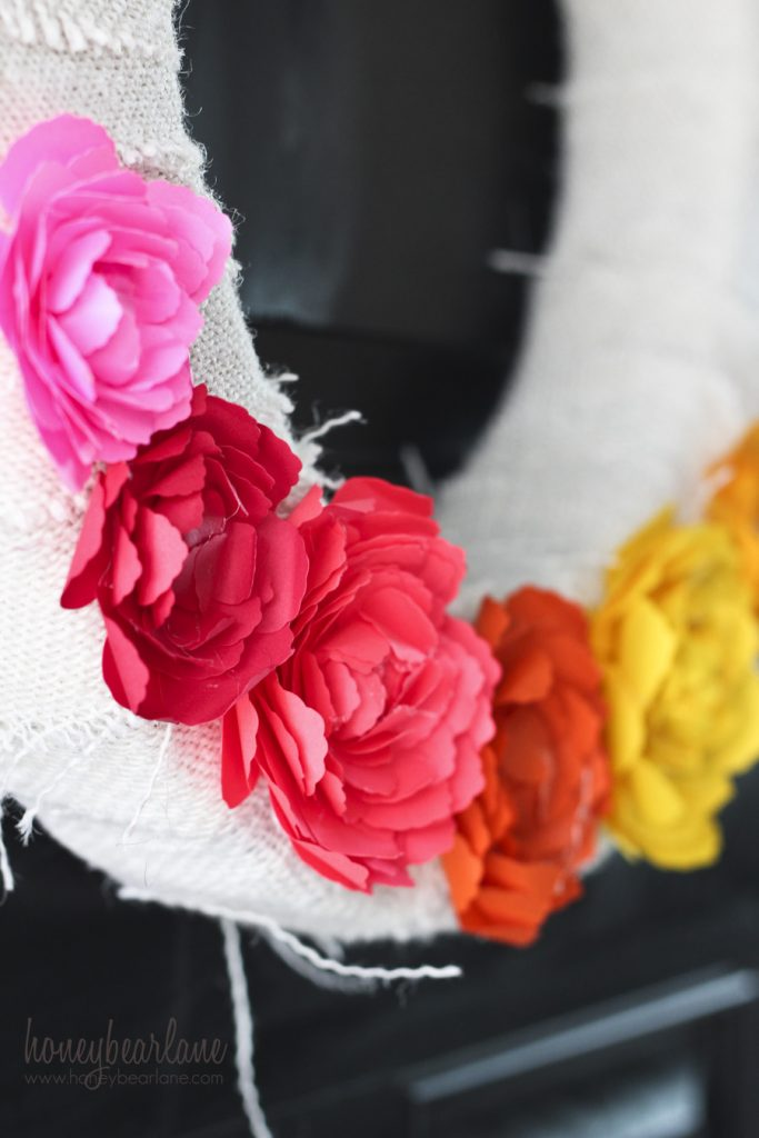 paper ranunculus flowers
