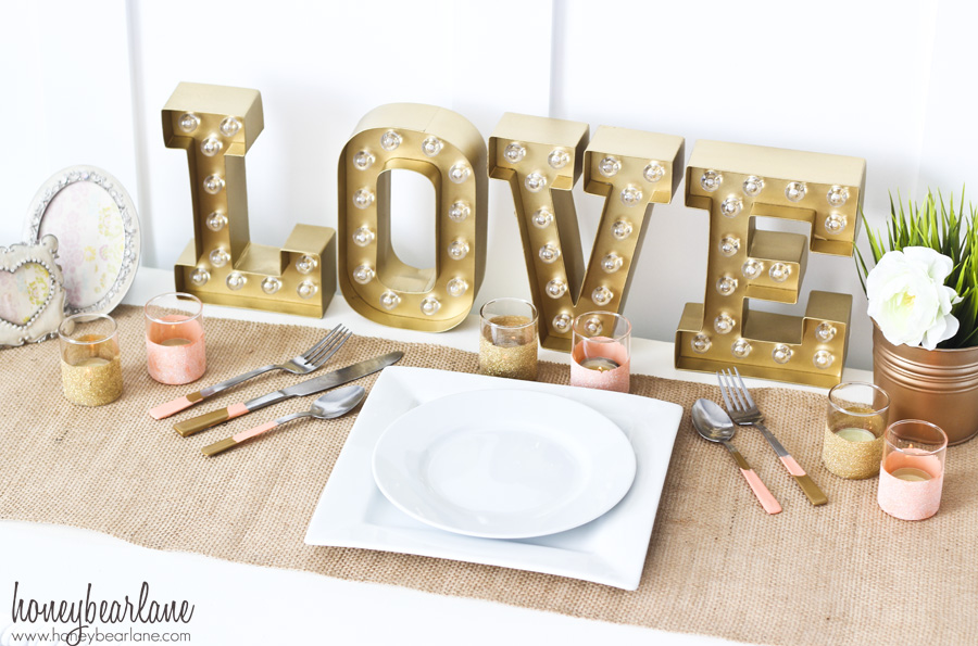 peach and gold wedding decor