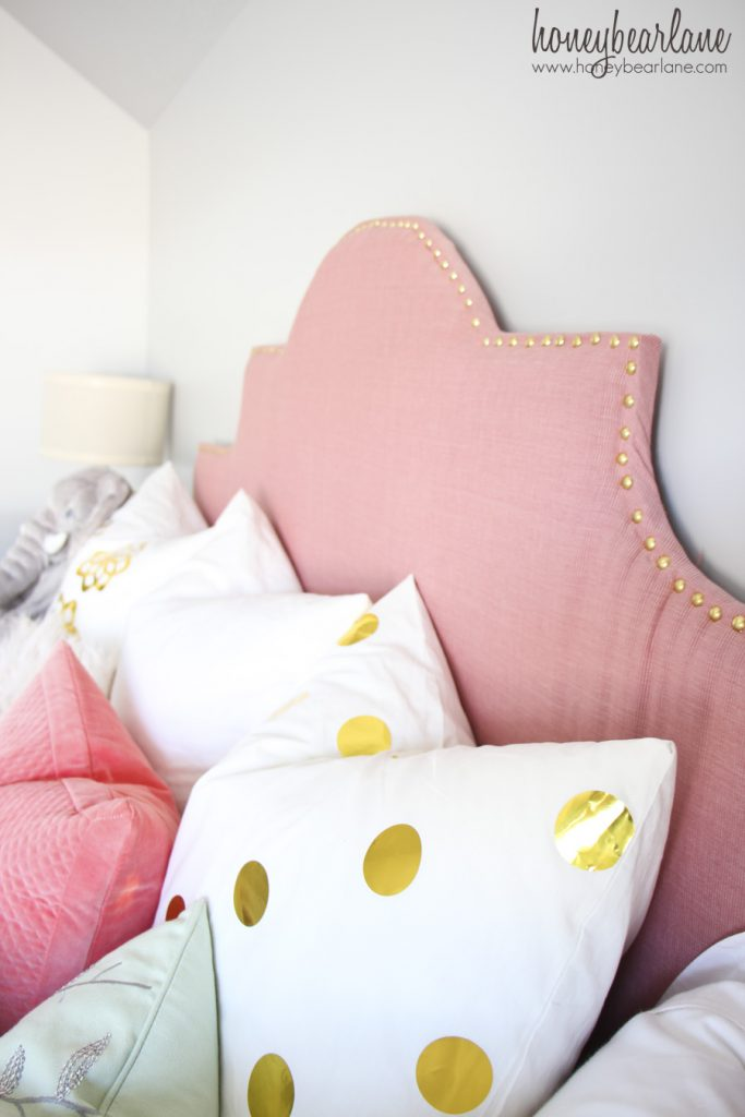pink daybed headboard