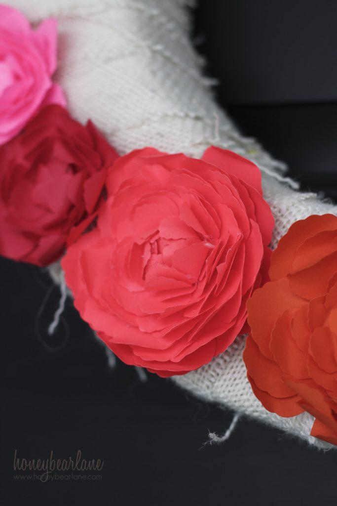 pink paper ranunculus
