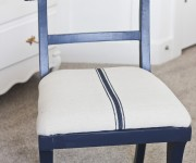 blue french grainsack chair