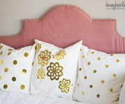 gold vinyl foil pillows