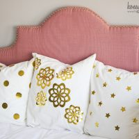Metallic Gold Foil Pillows