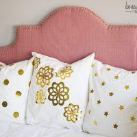 Metallic Gold Foil Pillows