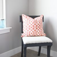 Dark Gray Painted Chair