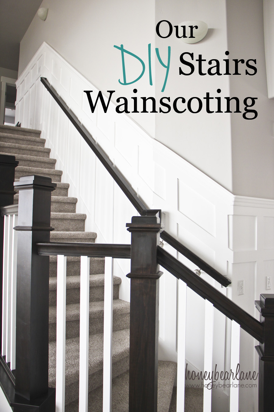 Merveilleux Our DIY Stairs Wainscoting