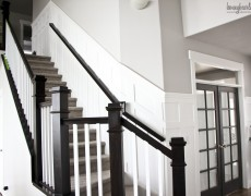 stairs wainscoting