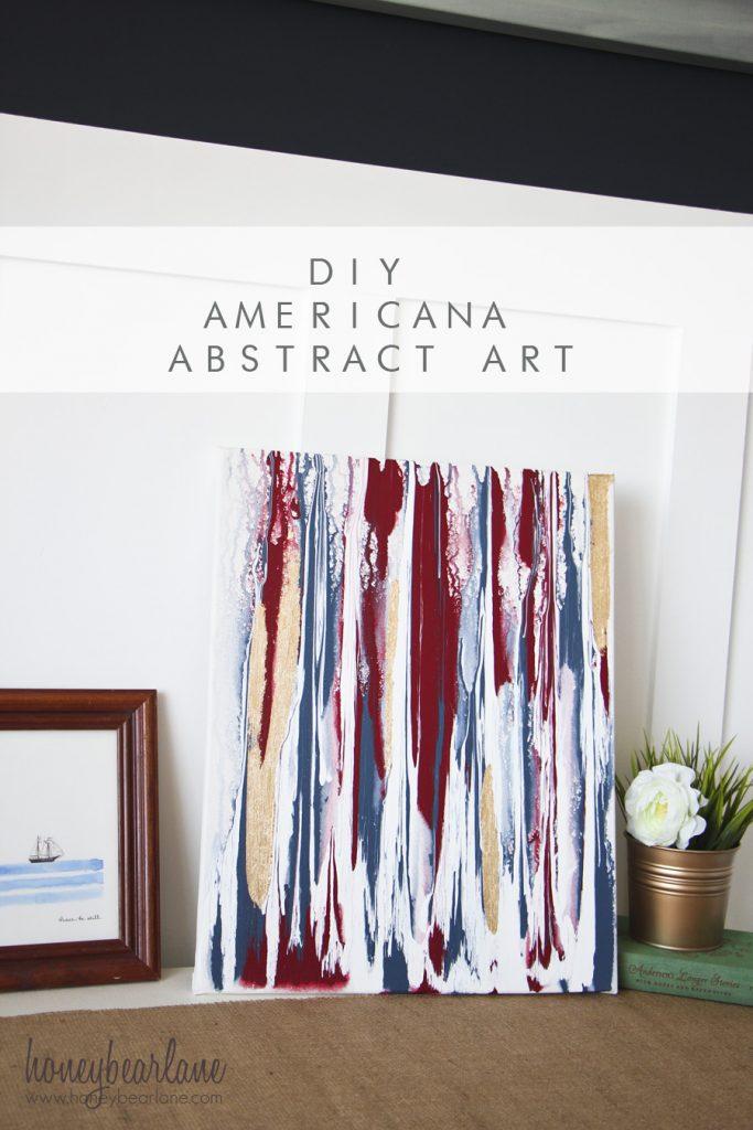 DIY Americana Abstract Art