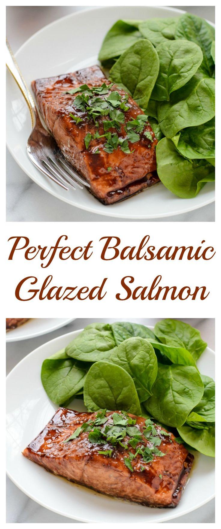 Balsamic And Raisin Glazed Salmon Recipe — Dishmaps