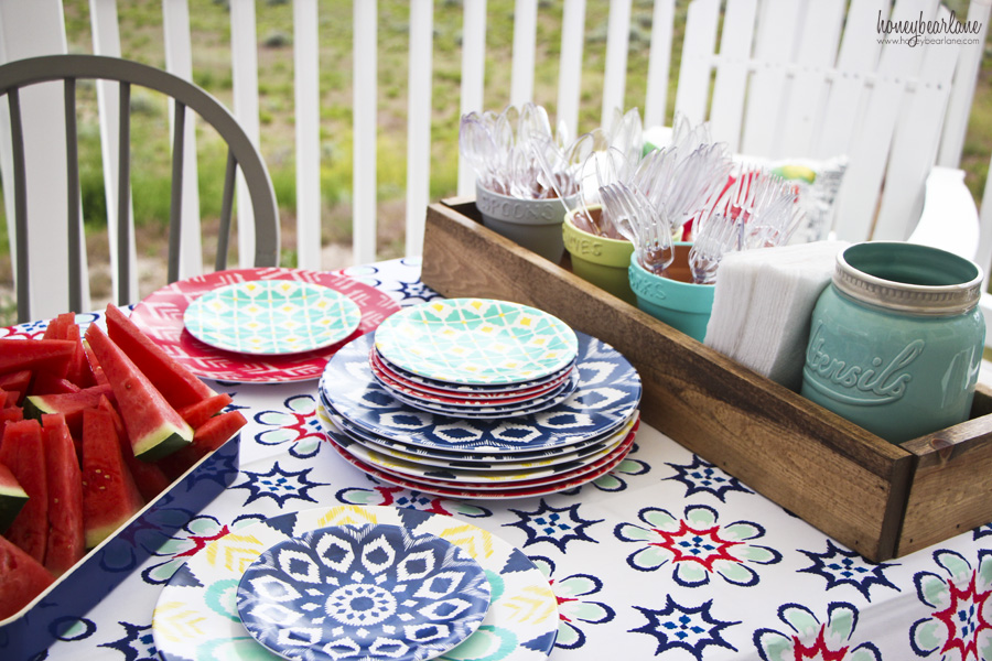 target outdoor plates