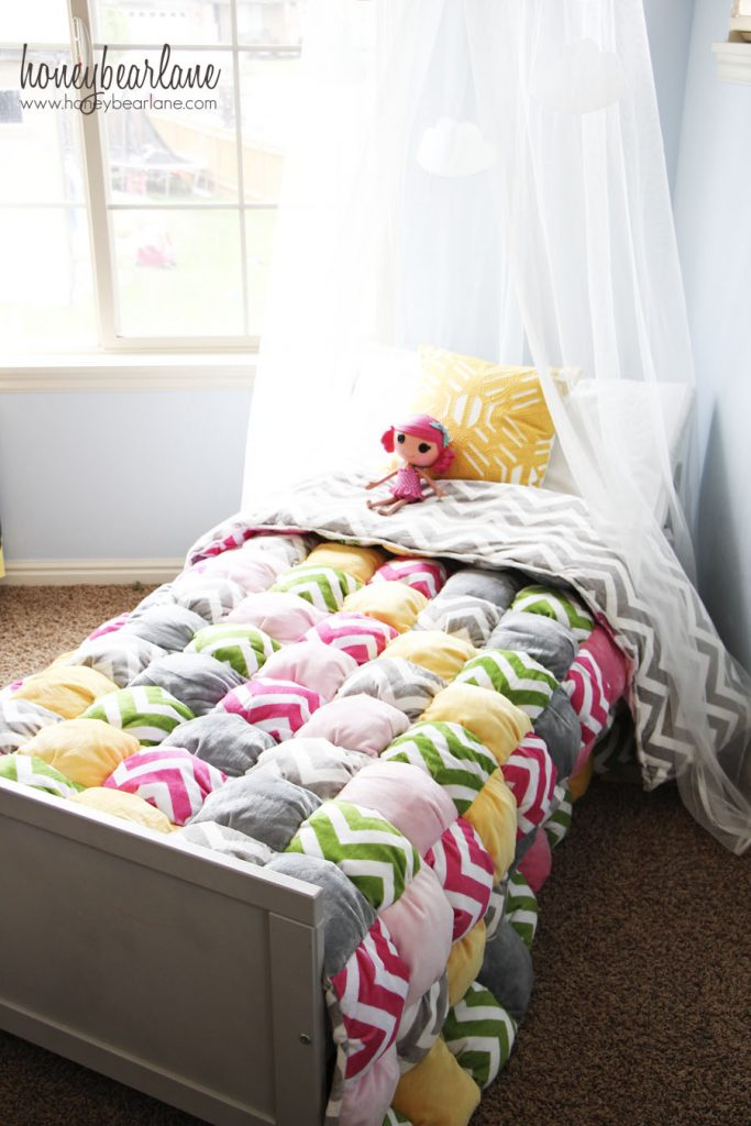 twin size puff quilt 3