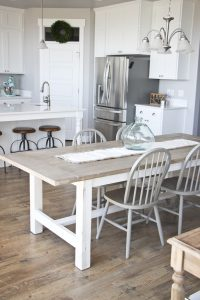 Weathered Kitchen Table And Chairs