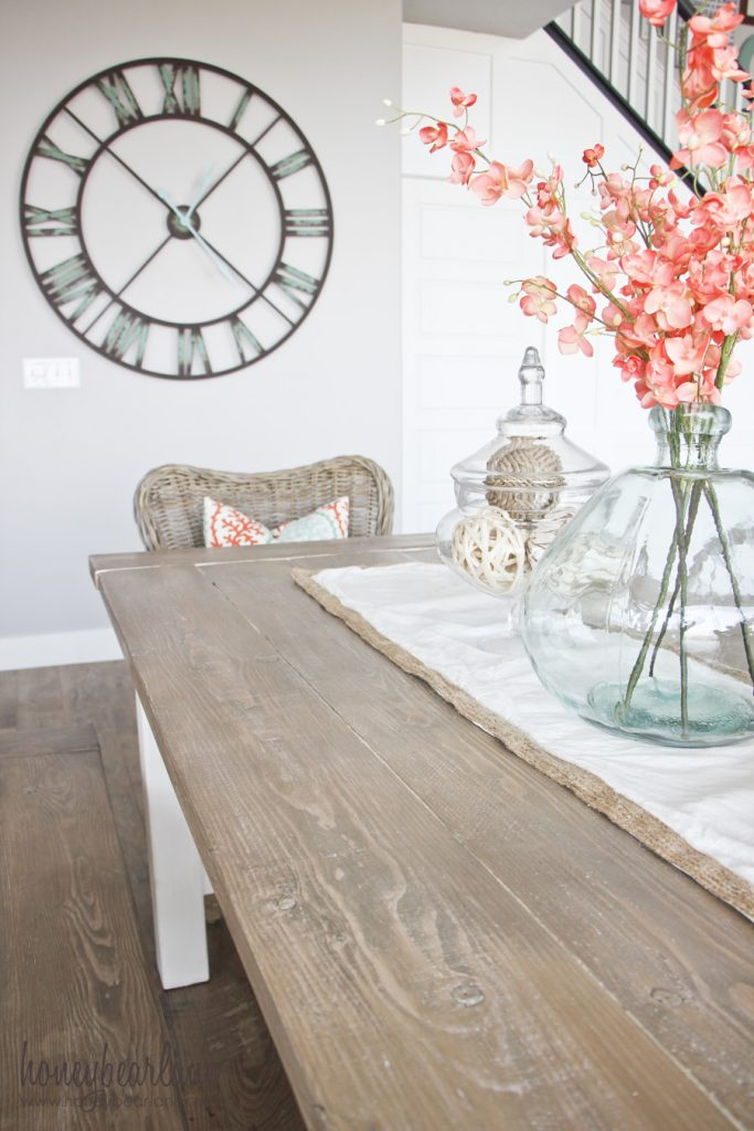 farmhouse table and diy weathered wood finish