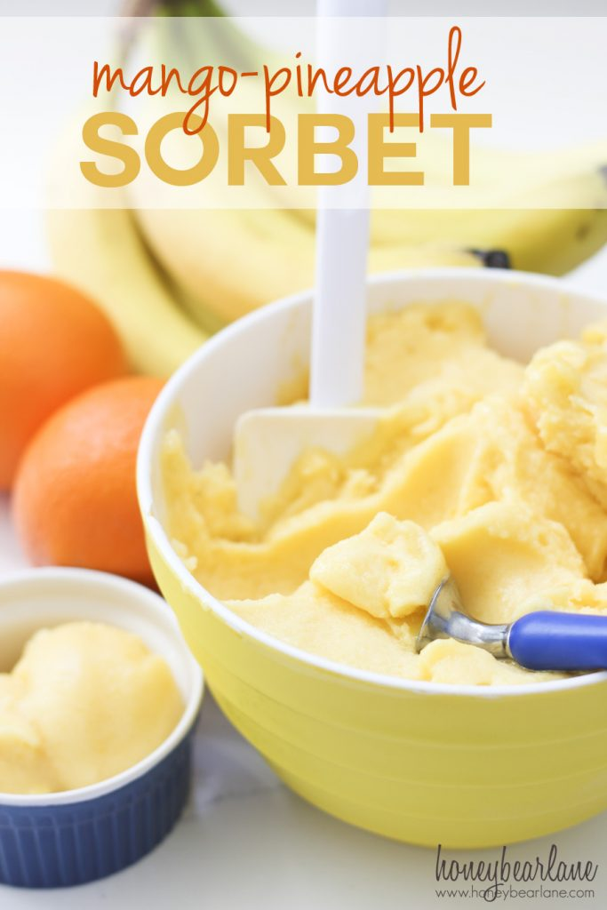mango pineapple sorbet