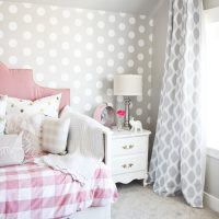 Pink and Gray Girl's Bedroom