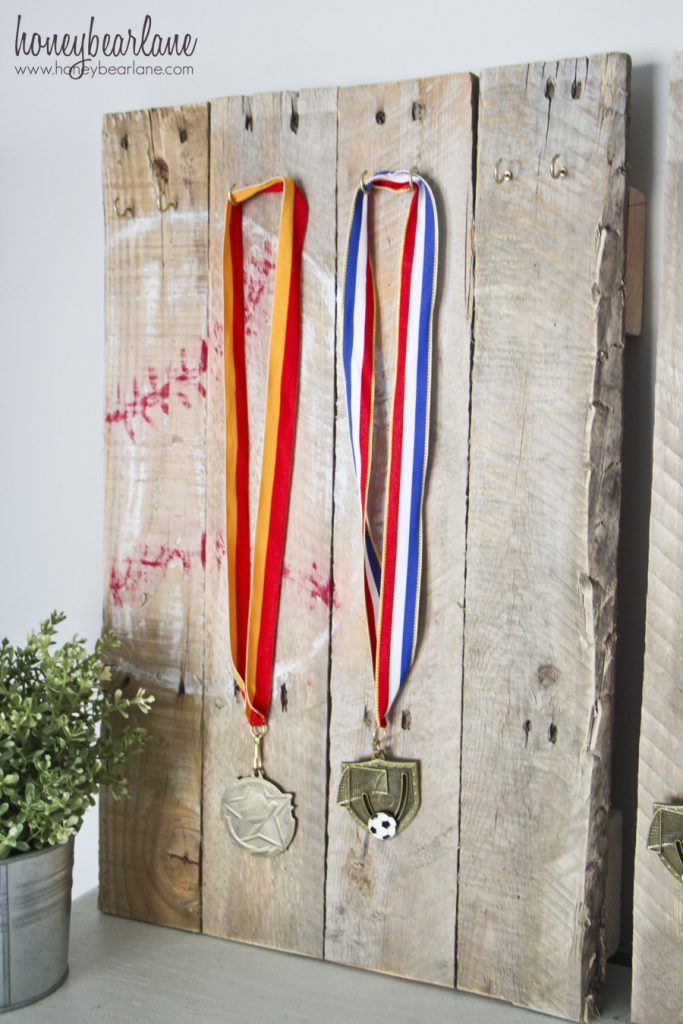 soccer medal display