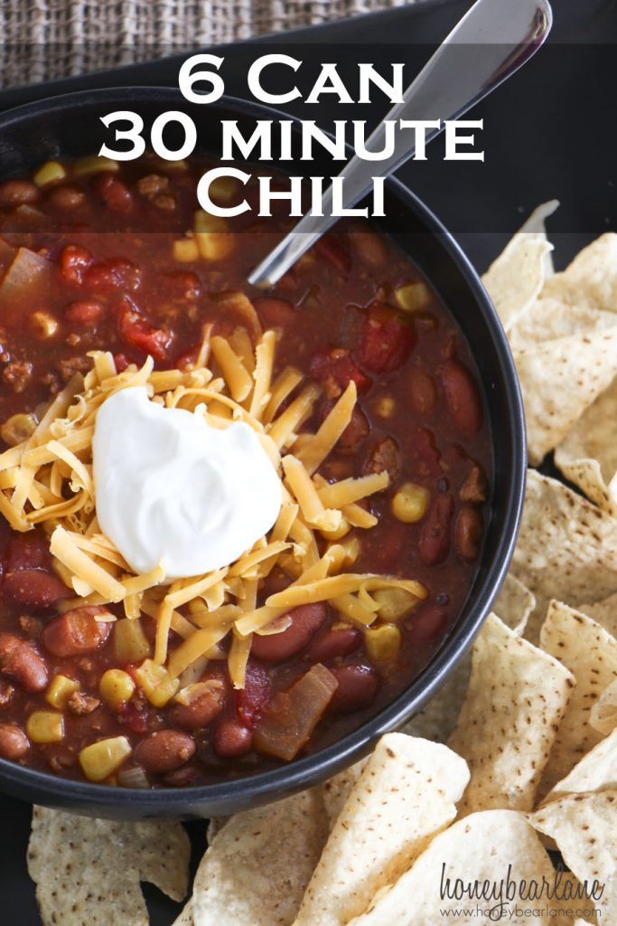 6 can 30 minute chili