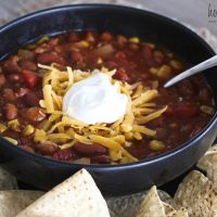 6 Can 30 Minute Easy Chili Recipe