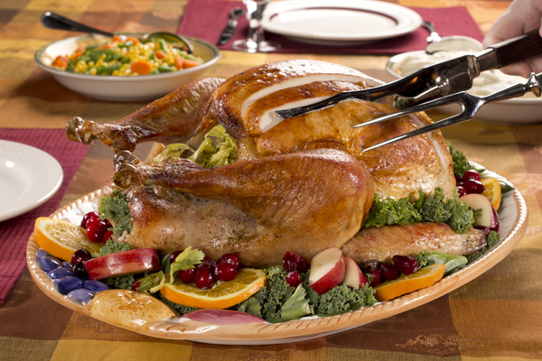10. Roasted Turkey With Herb Butter Roasted Shallots
