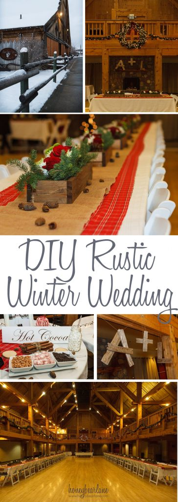diy rustic winter wedding