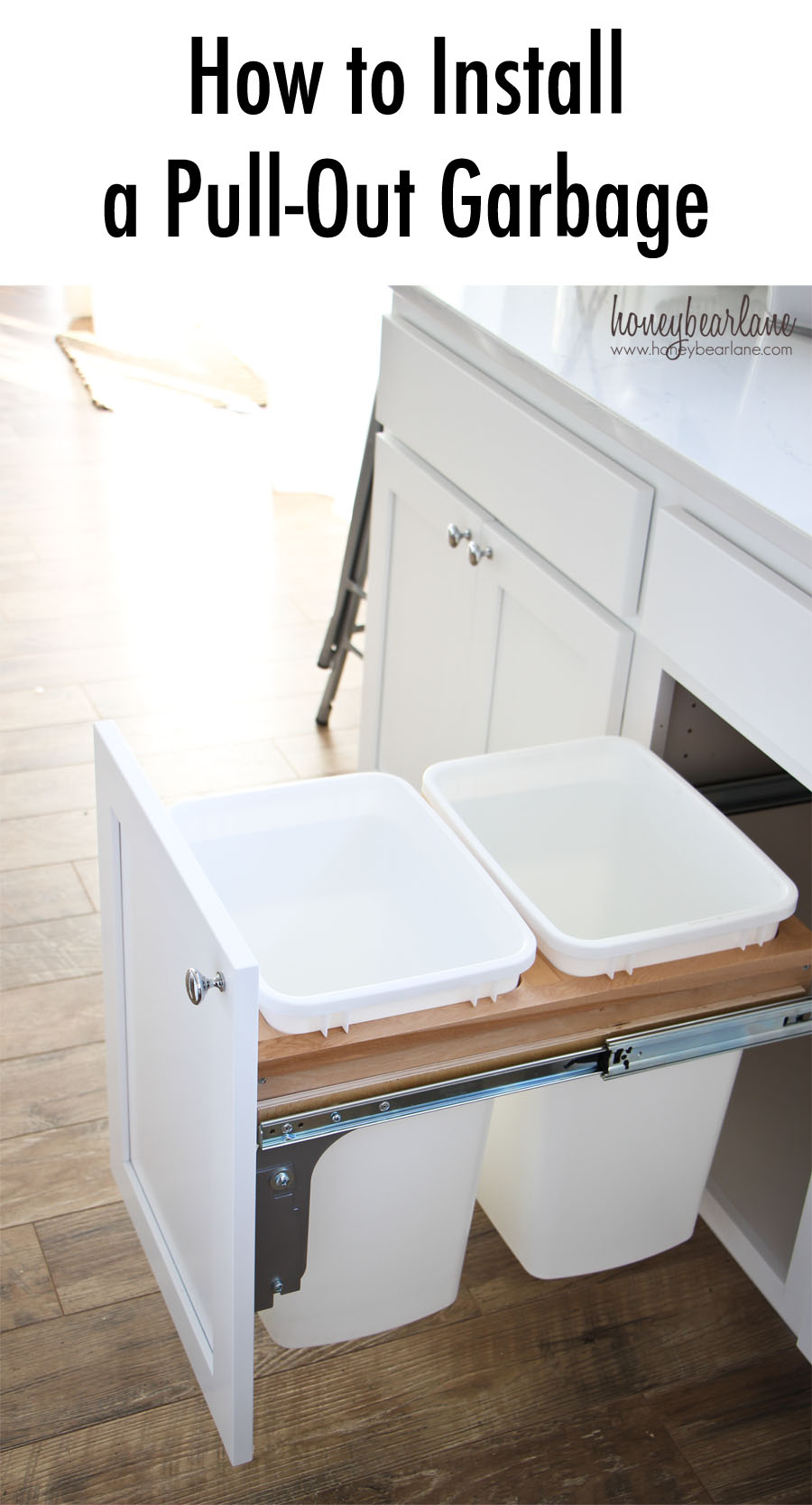 How to Install a Pull-out Garbage - Honeybear Lane
