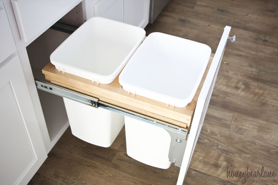 How to Install a Pull-out Garbage - Honeybear Lane Ideas Wood Kitchen Trash Can Html on country style trash cans, two trash cans, wood kitchen lighting, wood kitchen garbage containers, wood kitchen tiles, metal trash cans, wood kitchen paper towel holders, wood kitchen garbage pails, lowe's trash cans, wood kitchen racks, wood kitchen tools, wood kitchen knives, wood kitchen bowls, wausau tile trash cans, wood kitchen walls, wood kitchen organizers, wood kitchen rugs, wooden trash cans, wood kitchen drawer inserts, living room trash cans,