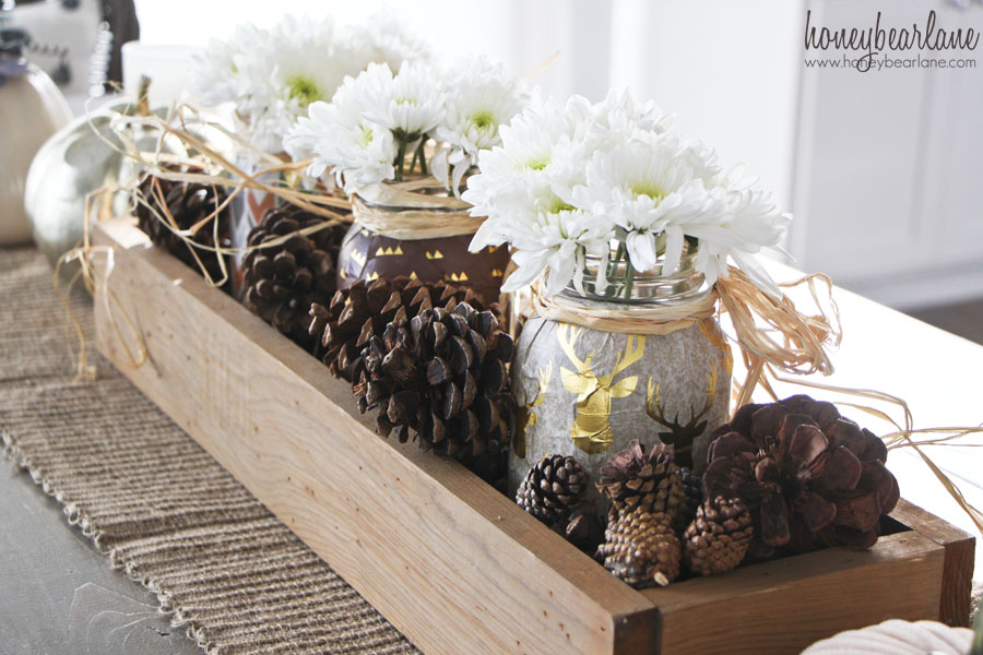 wood box thanksgiving centerpiece