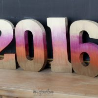 2016 Metallic Ombre Numbers