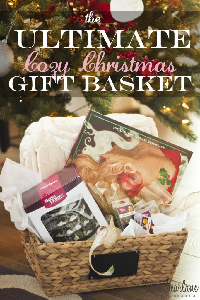 cozy christmas gift basket