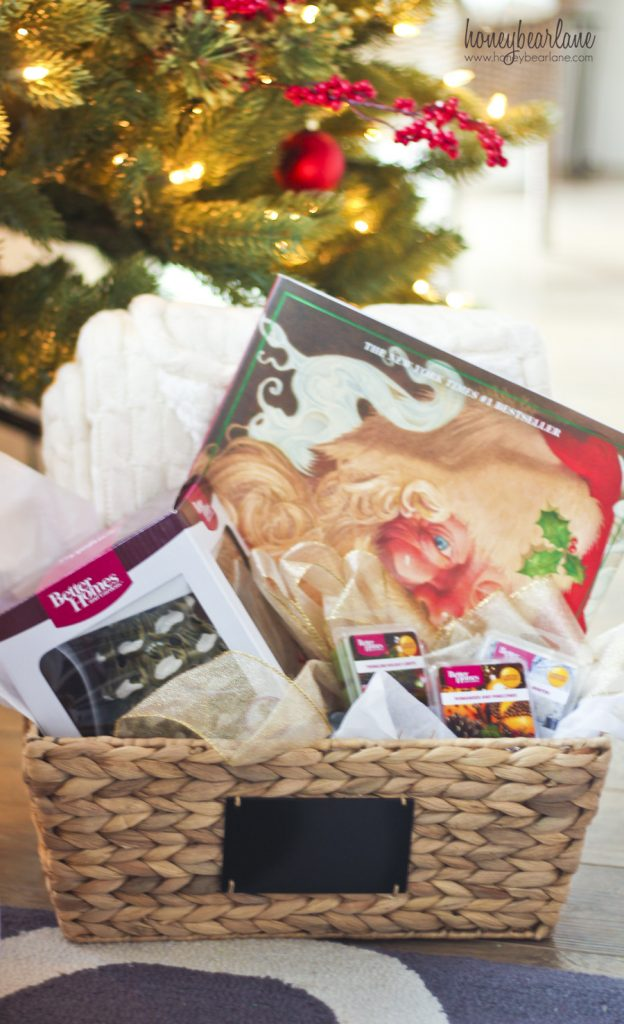 cozy christmas gift basket idea