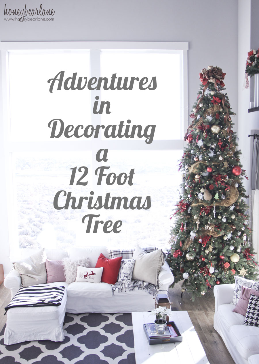 decorating a 12 foot christmas tree