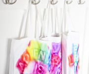 Sharpie Watercolor Book Bags
