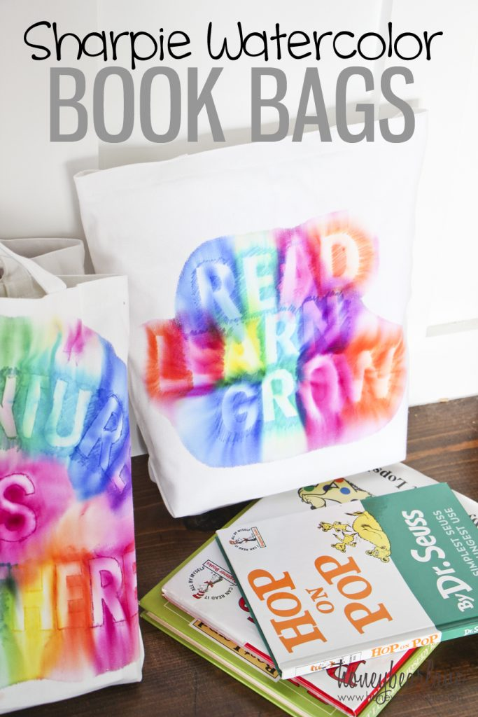 sharpie water color book bags