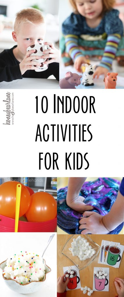 10 indoor activities for kids