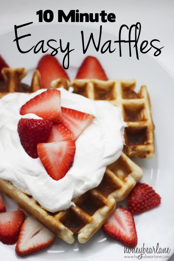 10 minute easy waffles