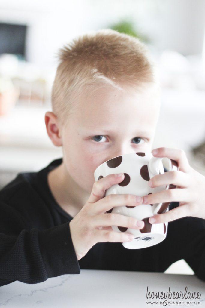 drinking trumoo hot chocolate