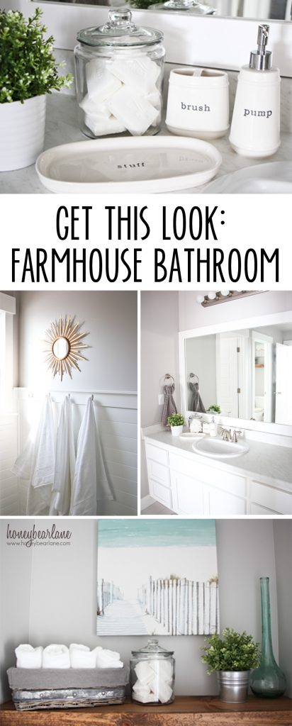 get this look farmhouse bathroom