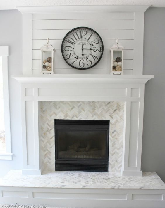 gorgeous white fireplace