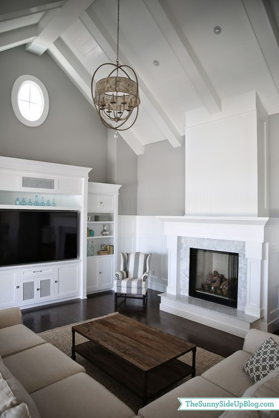Vaulted Ceiling Family Room