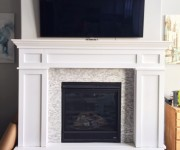 Fireplace Mantel Makeover Part 2