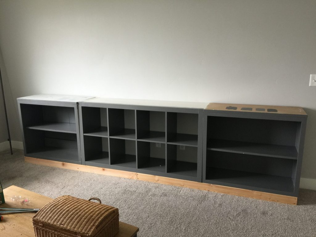 Ikea Hack Expedit Into Long Storage Unit Honeybear Lane