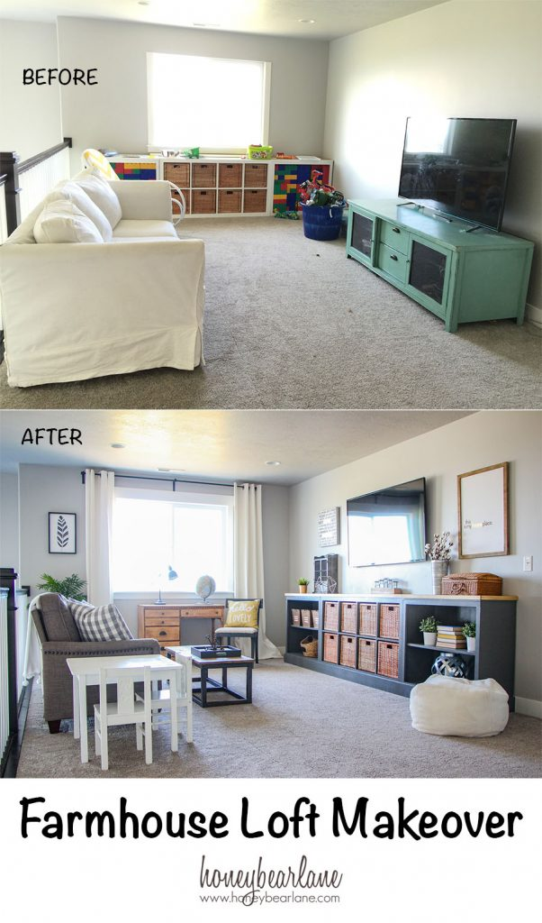 Farmhouse Loft Makeover Honeybear Lane