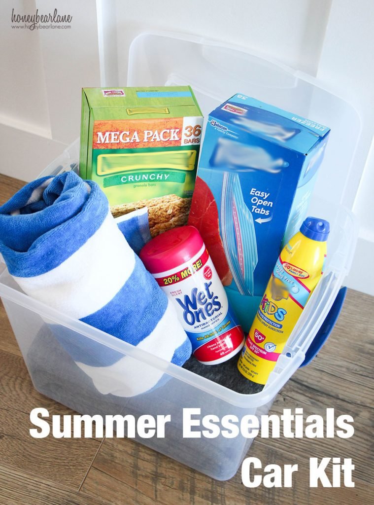 summer essentials car kit