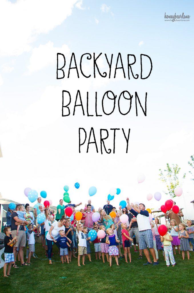 backyard balloon party