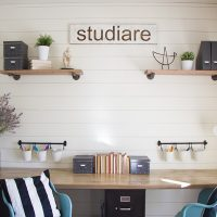 Industrial Farmhouse Home School Room