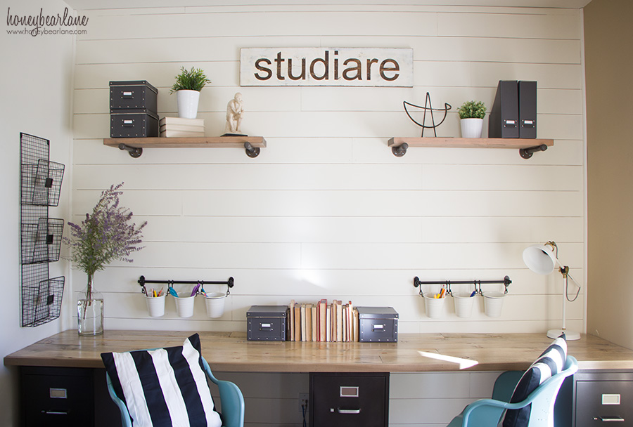 Diy Industrial Farmhouse Desk Honeybear Lane