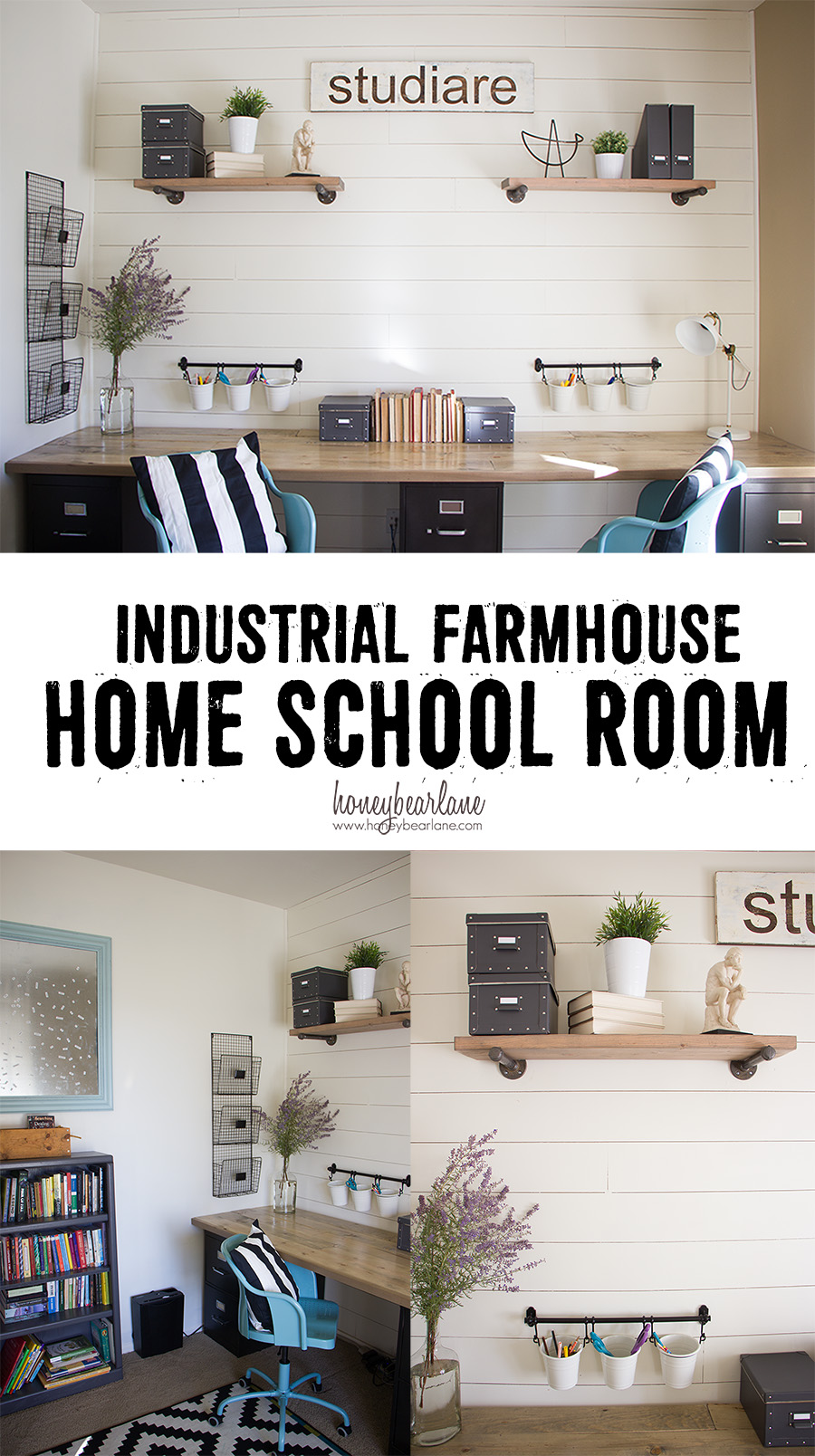 Industrial Farmhouse Home School Room Honeybear Lane